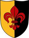 Schild Lilie - klein