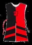 Wappenrock Löwe schwarz/rot, Gr. 2