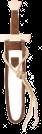 Kurzschwert Set Leinen - weiß