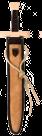 Langschwert Set Leder hellbraun-dunkelbraun